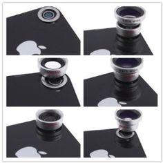 4 in 1 Camera Lens Kit for Apple iPhone 4 (8X Black Telephoto Lens, Fish Eye Lens, Wide Angle + Micro Lens) Plus Tripod and Hard Case @Tricia Ledford Christmas idea?! I can haz?