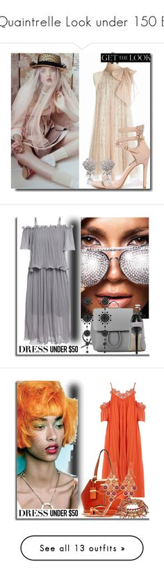 """""""Quaintrelle Look under 150 E"""" by bibiantje-m ❤ liked on Polyvore featuring Dressunder50, Pussycat, Valentino and Nivea"""