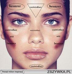 cieniowanie pociągłej twarzy krok po kroku Makeup 101, Diy Makeup, Makeup Inspo, Makeup Inspiration, Beauty Makeup, Hair Beauty, Contour Makeup, Eyebrow Makeup, Face Makeup
