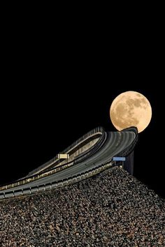 The Moon Atlantic Highway Norway…. this is so eerie and beautiful that I had to add this