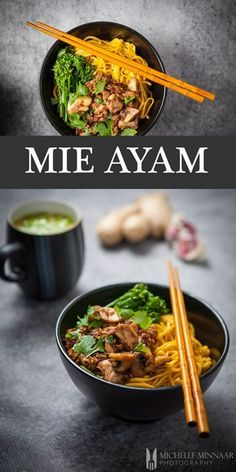 Mie Ayam - Mie Ayam, almost completely unknown to the Western palate, is a chicken and mushroom soup with noodles. Different. Simple. Delicious.
