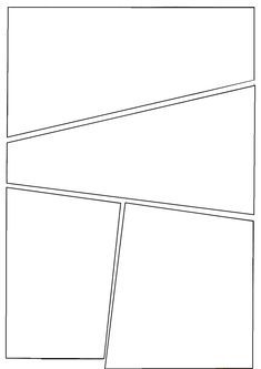 Comic Strip Template Pages for Creative Assignments. For