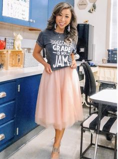 Get inspired by the best fall teacher outfits with the latest trends this year including leopard, plaid, and more. Plus, a new twist on your favorite teacher tee! Cute Teacher Outfits, Teaching Outfits, Teacher Style, Teacher Shirts, Cute Outfits, Teacher Clothes, Work Clothes, Elementary Teacher Outfits, Teacher Wear