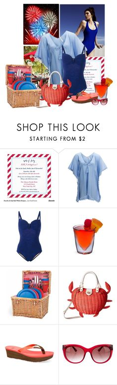 """""""BBQ"""" by sherry7411 on Polyvore featuring Kendall + Kylie, Seafolly, Marlies Dekkers, Betsey Johnson, UGG and Thierry Lasry"""