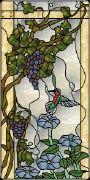 Grapes and Hummingbird