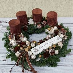 Adventskranz Mehr Adventskranz Mehr The post Adventskranz a… Advent wreath more Advent wreath more The post Advent wreath appeared first on DIY projects. Christmas Advent Wreath, Xmas Wreaths, Christmas Mood, Christmas Candles, Christmas Centerpieces, Xmas Decorations, Christmas Crafts, Advent Wreaths, Brown Candles