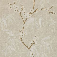 Gentle white cherry blossom blooms on gold branches with white coloured grasses give an oriental feel. The metallic silver gold background has a very faint tiled effect. Available in a range of colours – please ask for sample for true colour match. Oriental Wallpaper, Harlequin Wallpaper, Fabric Wallpaper, Pattern Wallpaper, Wallpaper Online, Wallpaper Samples, Gold And Silver Wallpaper, Blind, True Colors