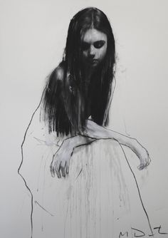Mark Demsteader. Interesting technique of detailing the upper torso, then leaving the bottom drift off... - agree very much with this comment -- the unfinished look works so well ....