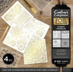Crafter's Companion Foil Transfers - Modern Mandalas - Paper & Card - Crafts, Die Cutting, Cross Stitch Kits, Embossing Folders, Stamps, Jigsaw Puzzles and more!