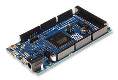 The Arduino Due is a microcontroller board based on the Atmel SAM3X8E ARM Cortex-M3 CPU (datasheet). It is the first Arduino board based on a 32-bit ARM core microcontroller. It has 54 digital input/output pins (of which 12 can be used as PWM outputs), 12 analog inputs, 4 UARTs (hardware serial ports), a 84 MHz clock, an USB OTG capable connection, 2 DAC (digital to analog), 2 TWI, a power jack, an SPI header, a JTAG header, a reset button and an erase button.