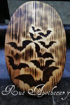 Bats Pyrography by DevenRue