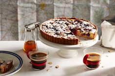 2015 Taste le Tour - Stage Cherry and almond tart (la tarte amandine aux cerises) Sweet Pie, Sweet Tarts, Cherry Bakewell Tart, Cherry Tart, French Cake, Tart Taste, Sweet Recipes, French Recipes, Australian Food