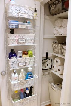 Nice Bathroom organization Design Ideas Bathroom storage is a location of the home we always need to service. After that you'll need to see these 30 bathroom storage ideas. Bathroom storage is a location of the home we always need to service. Under Kitchen Sink Organization, Bathroom Cabinet Organization, Linen Closet Organization, Small Bathroom Storage, Bathroom Organisation, Organization Hacks, Organizing Bathroom Closet, Organized Bathroom, Organization Ideas For The Home