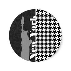 New York, Statue of Libety Houndstooth Sticker