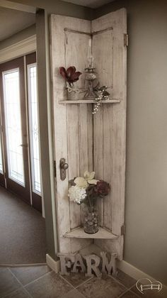 Apr 617: Almost demolished, repurposed barn door decor