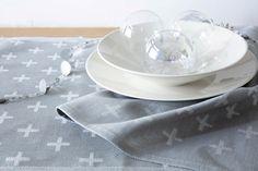 Himmeli-pyyhe. Himmeli towel.  Designer Jenni Laurila.  #jokipiinpellava #madebyfinland #kitchentowel #teatowel #keittiöpyyhe Table Settings, Kitchen, Cooking, Kitchens, Place Settings, Cuisine, Cucina, Tablescapes