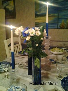 Motoristin Mutsi at home and garden Independence day tablescape