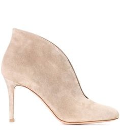 45b2164391d1 Gianvito Rossi 2017-18AW Suede Plain Pin Heels Elegant Style Ankle    Booties Boots