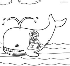 Jonah and the Whale Coloring Pages for Toddlers / #bible #coloringpage #jonah #whale #cccpinehurstcm / Via: http://www.cool2bkids.com/jonah-and-the-whale-coloring-pages/