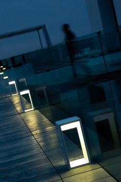 This simple and contemporary #outdoorlighting provides #illumination along a pathway.
