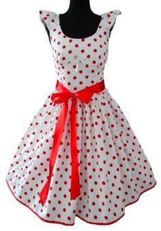 Petticoat-Kleid mit süßen Tupfen - Schnittmuster und Nähanleitung via Makerist.de                                                                                                                                                                                 Mehr