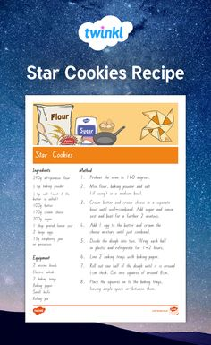 Star cookies recipe Star Cookies, Yummy Cookies, Xmas Party, Early Childhood Education, English Vocabulary, Kids And Parenting, Cookie Recipes, Goodies, Group