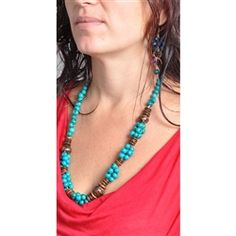 Blue Acai Necklace handmade in Brazil