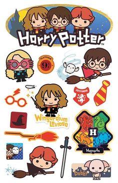 Harry Potter Cartoon, Harry Potter Stickers, Cute Harry Potter, Harry Potter Artwork, Images Harry Potter, Harry Potter Drawings, Theme Harry Potter, Harry Potter Room, Harry Potter Wallpaper