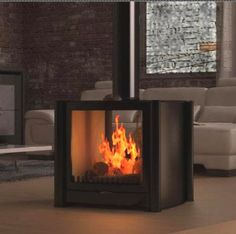 Firebelly double sided stoves, contemporary double sided stoves UK