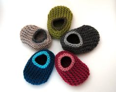 Design Your Own Wool Baby Slippers sizes 0 to 18 by HandKnitHugs