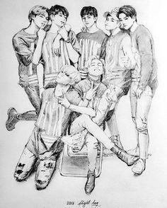 #mulpix  #BamBam  #뱀뱀  #MarkTuan  #Yugyeom  #Youngjae  #Imjaebum  #JB  #JacksonWang  #Junior  #Jinyoung  #GOT7  #GOT7Fanart  #Home_Run  #Flight_Log  #JYP  #KPOP  #Fanart  #Drawing  By whereiseu