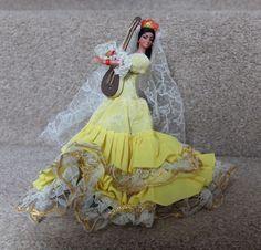 "Marin FLAMENCO Dancer Vintage 7"" Tall DOLL Chiclana SPANISH Yellow Dress Stand | Dolls & Bears, Dolls, Clothing & Accessories, Vintage Dolls | eBay!"