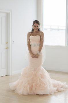 Blush gown: http://www.stylemepretty.com/rhode-island-weddings/newport-ri/2015/05/06/glamorous-spring-wedding-at-belle-mer/ | Photography: Long Haul Films - http://longhaulfilms.com/