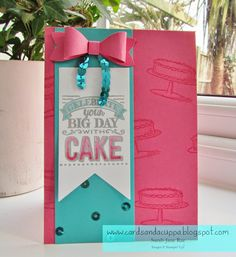 Stampin' Up UK Demonstrator Sarah-Jane Rae Cards and a Cuppa blog: Using Big Day, Sale-a-Bration stamps, by Stampin' Up to make a Summery Bow Card