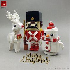 ~ Lego Mocs Holidays ~ Christmas ~ Adding one more fun Christmas build to the White Christmas family! 🎅White Christmas Nutcracker🎄 Lego Minion, Lego Minecraft, Lego Winter, Lego Christmas Ornaments, Noel Christmas, White Christmas, Xmas, Lego Disney, Lego Calendar