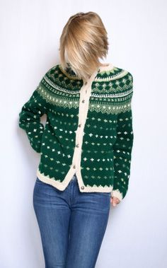 Vintage 1960s Fair Isle sweater / XS small by ItinerantVintage