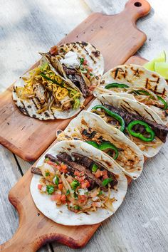 Mexico: Tacos. Slow-roasted or grilled chicken, beef, and pork are served on blackened flour tortillas with onion, lime, cilantro, peppers, sour cream, pico de gallo, avocado, cheese, and even grilled pineapple. These colorful flavor pockets are like Mexican trading cards: You gotta eat 'em all.