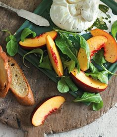 Creamy burrata cheese meets sweet nectarines in this summer-fresh starter.