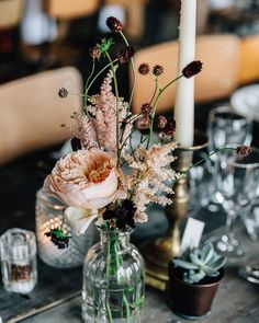 Floral Wedding Centerpieces Planning and Tips - Love It All Boho Wedding, Floral Wedding, Fall Wedding, Rustic Wedding, Wedding Flowers, Dream Wedding, Bohemian Chic Weddings, Wedding Black, Wedding Reception