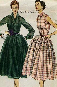 Pintucks: 1950's Fashion Illustrations