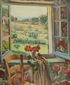 Duncan Grant  - Window, South of France