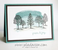 Julie's Stamping Spot -- Stampin' Up! Project Ideas Posted Daily: Classic Combo: Lovely as a Tree + Work of Art