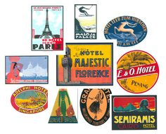 34 best vintage travel stickers images on pinterest luggage labels