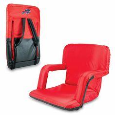 Football Fan Shop Picnic Time Ventura Folding Stadium Chair - Buffalo Bills