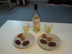vin moelleux, sucettes de foie gras au pain d'épices, madeleines au confit de figues