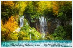tranh đẹp về thác nước phong thủy