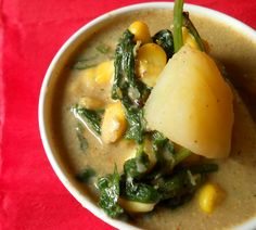 How to Make Corn Spinach Curry - Corn Spinach Curry - Flavors of Mumbai