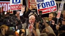 Rob Ford vows to run for mayor again in 2018  (Globe and Mail 27 October 2014)