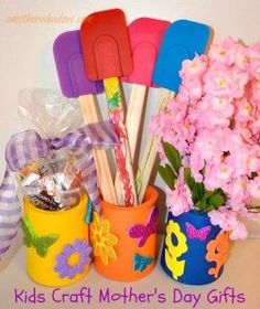 FIVE unique, easy, fun gifts for kids to make.  All easily adapted for child to teen to personalize their present for the special women in their life.