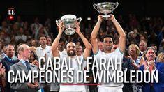 Cabal y Farah hacen historia: son campeones de Wimbledon   Noticias   El... Wimbledon, Youtube, Champs, News, Sports